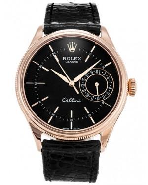 Rolex Cellini Date Everose Gold Noir Homme 50515