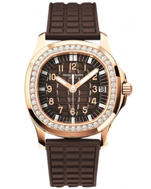 Patek Philippe Aquanaut Luce Or Rose Diamants Femme 5068R-001