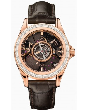 Omega De Ville Tourbillon Central Diamants Or Rouge 513.58.39.21.64
