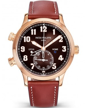 Patek Philippe Calatrava Pilot Travel Time Or Rose Homme 5524R-001