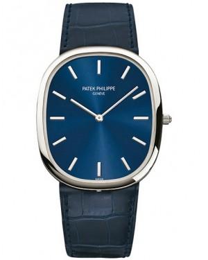 Patek Philippe Golden Ellipse Platine Bleu Automatique Homme 5738P-001
