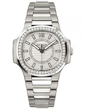 Replique Patek Philippe Nautilus Acier Inoxydable Avec Diamants Femme 7008/1A-011