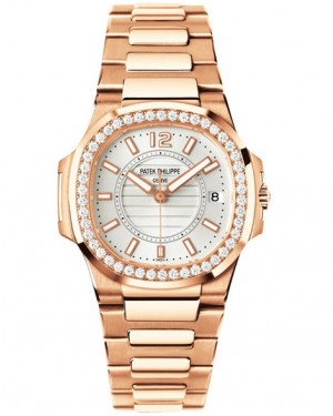 Replique Patek Philippe Nautilus Or Rose Diamants Quartz 7010/1R-001