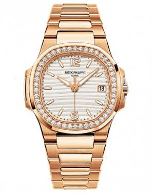 Replique Patek Philippe Nautilus Or Rose Diamants Quartz 7010/1R-011