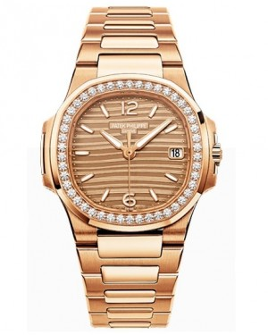Replique Patek Philippe Nautilus Or Rose Diamants Femme 7010/1R-012