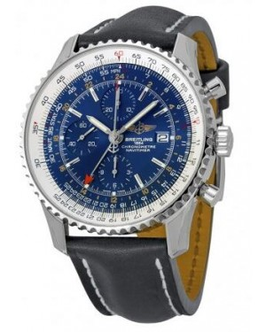 Breitling Navitimer World Bleu Cadran Chronographe Hommes A2432212-C651BKLT