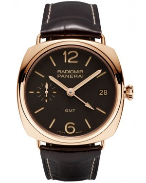 Panerai Radiomir 3 Jours GMT Or Rose 47mm Homme PAM00421