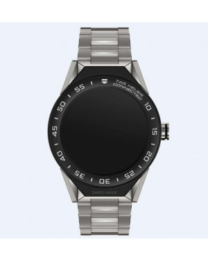 Tag Heuer Connected Modular 45mm Titane Sangle Noir Mat Ceramique Lunette SBF8A8001.10BF0608