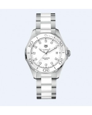 Tag Heuer Aquaracer 300M Blanc Dail 35MM Dames WAY131D.BA0914