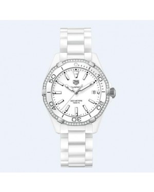 Tag Heuer Aquaracer 300M Blanc Dail 35MM Dames WAY1396.BH0717