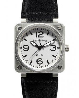 Bell & Ross BR01-92 Acier Inoxydable Blanc Homme