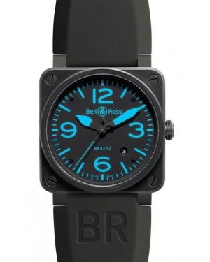 Bell & Ross BR 03-92 Carbon Bleu Homme