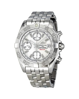 Breitling Chrono Galactic Cadran Argente Hommes A13358L2-A683SS