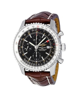 Breitling Navitimer World Automatique Chronographe Cadran Noir Hommes A2432212-B726BRCD