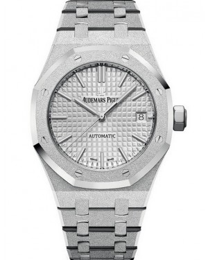 Audemars Piguet Royal Oak 41mm Frosted Or Blanc