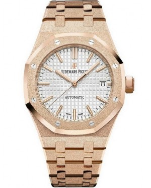 Audemars Piguet Royal Oak 41mm Frosted Or Rose Homme