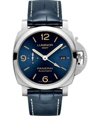 Panerai Luminor 1950 3 Days GMT Acier Inoxydable Bleu Homme PAM01033