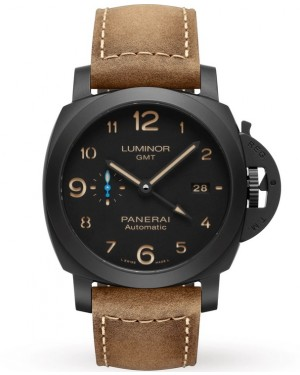 Panerai Luminor 1950 3 Days GMT Ceramique Cadran Noir Homme PAM01441