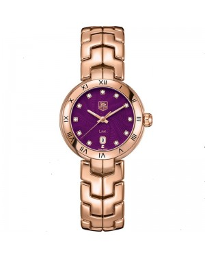 Tag Heuer Link Or Rose Diamant Violet Montre Femme WAT1440.BG0959