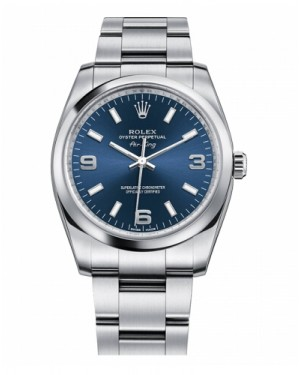 Rolex Air-King Domed Lunette Bleu Cadran 114200 BLAO