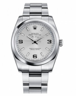 Rolex Air-King Domed Lunette Argent Cadran114200 SLIO