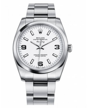Rolex Air-King Domed Lunette Argent Cadran114200 WAO