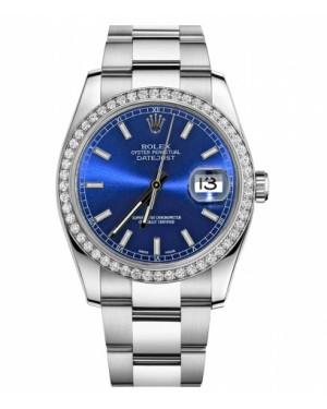 Rolex Datejust 36mm Acier Inoxydable Bleu Cadran116244 BLIO