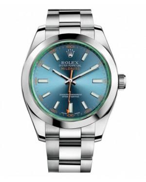 Rolex MilgauAcier Inoxydable Acier Inoxydable Noir Cadran116400 GV