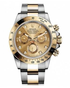 Rolex Daytona Acier Et Or Champagne Cadran116523 CHD