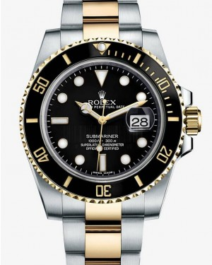 Rolex Submariner Date Two Tone Noir Cadran116613LN