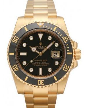 Rolex Submariner Date Jaune Or Noir Cadran116618LN