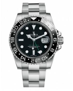 Rolex GMT Master II Acier Inoxydable Noir Cadran116710 LN