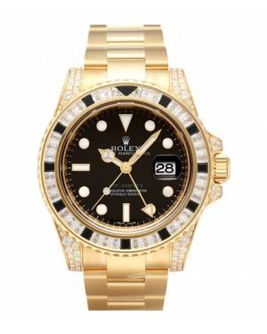 Rolex GMT Master II Jaune Or Noir Cadran116758 SANR