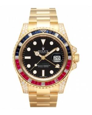Rolex GMT Master II Jaune Or Noir Cadran116758 SARU