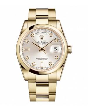 Rolex Day Date Jaune Or Argent Cadran118208 SDO