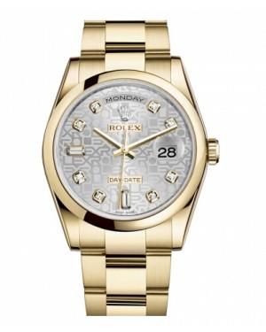 Rolex Day Date Jaune Or Argent jubilee Cadran118208 SJDO
