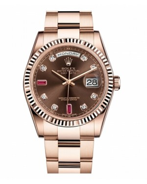 Rolex Day Date Rose Or Marron Cadran118235 CHODRO