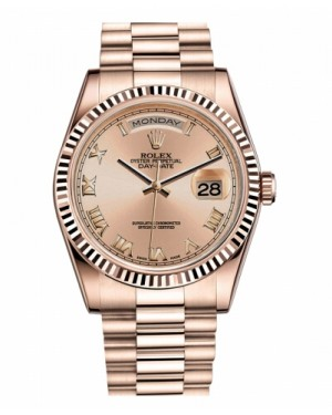 Rolex Day Date Rose Or Champagne Cadran118235 CHRP