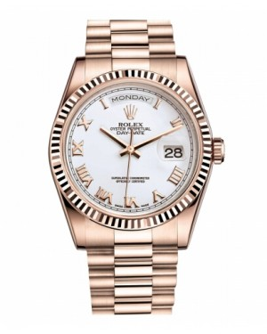 Rolex Day Date Rose Or Blanc Cadran118235 WRP