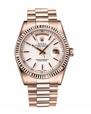Rolex Day Date Rose Or Blanc Cadran118235 WSP