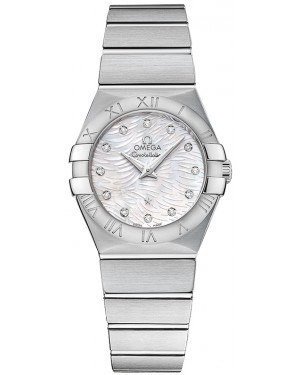 Omega Constellation Brushed Quarz Petites Dames 123.10.27.60.55.004