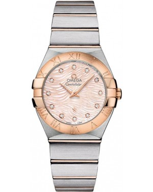 Omega Constellation Brushed Quarz Petite Pluma Dames 123.20.27.60.57.004