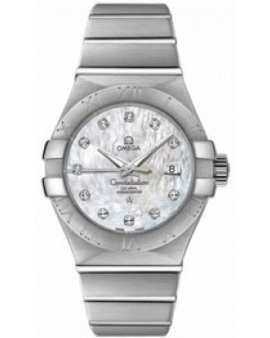 Omega Constellation 31mm Constellation Brushed Co-Axial Chronometer Mere de Perle Dames 123.10.31.20.55.001