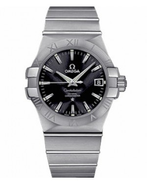 Omega Constellation 35mm Automatique Co-Axial Cadran Noir Acier inoxydable Hommes 123.10.35.20.01.001