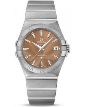 Omega Constellation Automatique Chronometer Bronze Dial Date Acier inoxydable Hommes 123.10.35.20.10.001