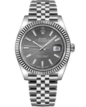 Rolex Datejust 41mm Acier Cannelé Gris 126334
