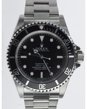 Rolex Submariner No Date Acier Inoxydable Noir Cadran14060M