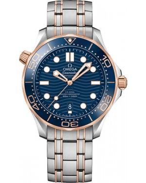 Omega Seamaster Diver 300m Montre Acier Et Or Rose Homme 210.20.42.20.03.002