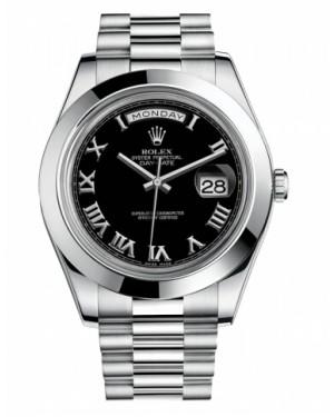 Rolex Day Date II President Platine Noir Cadran218206 BKRP
