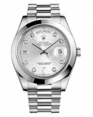 Rolex Day Date II President Platine Argent Cadran218206 SDP